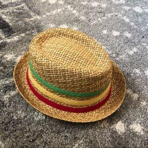 Boys Fedora Straw Hat size M/L